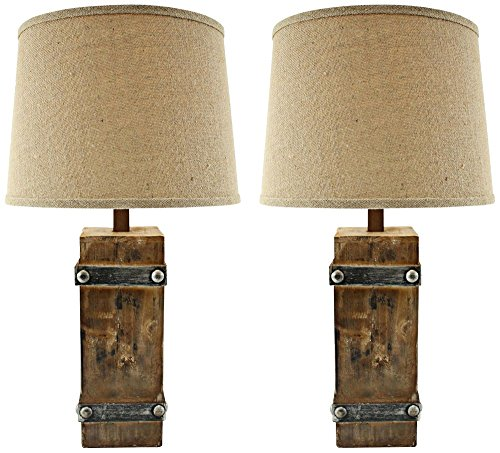 Aspire Brockton II Table Lamp (Set of 2), Brown
