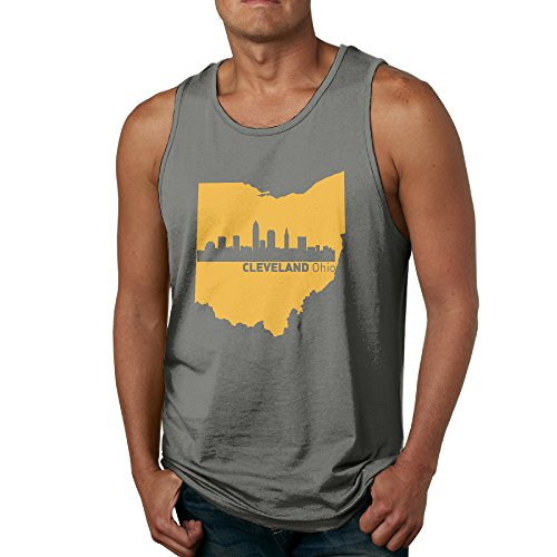 Men's Cleveland Ohio City Skyline Fashion Tank Top