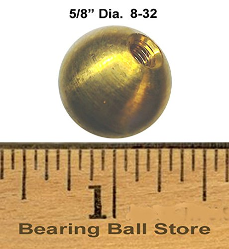 81 5/8'' dia. threaded 8-32 brass balls drilled tapped lamp finials by Bearing Ball Store