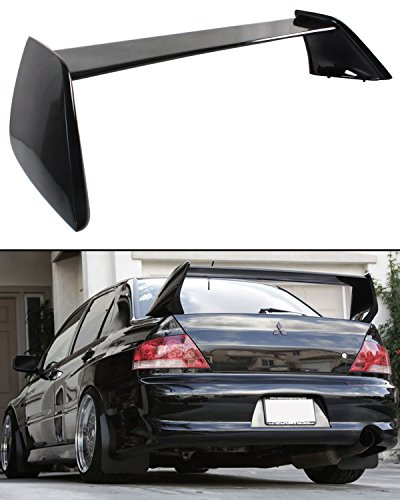 Cuztom Tuning Fits for 2002-2007 Mitsubishi Lancer Evo 7 8 9 Painted Black Rear Trunk Lid Spoiler Wing ()