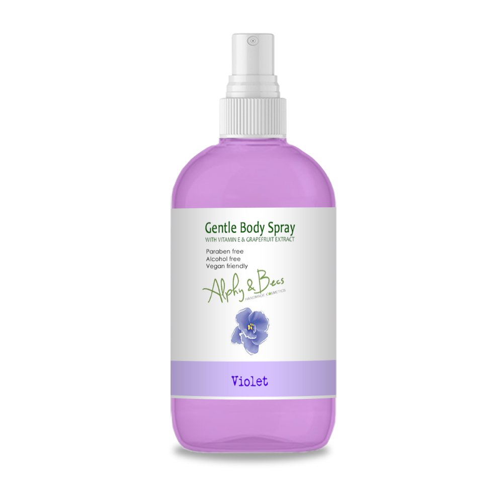 Alcohol Free Mist Gentle Body Spray - VIOLET - With Vitamin E Alphy & Becs