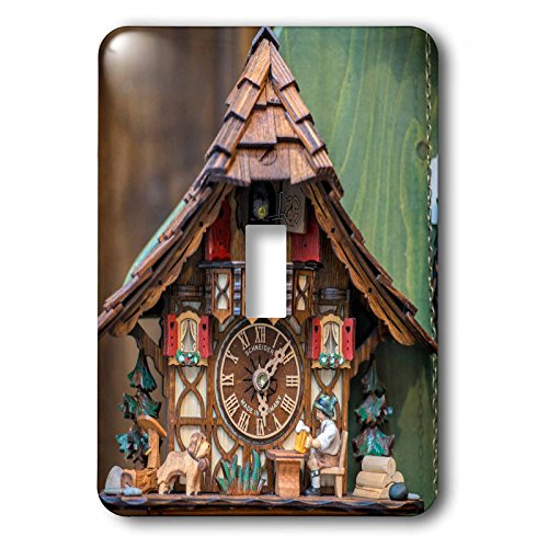 3dRose lsp_188521_1 Traditional Cuckoo Clock for Sale, Rothenburg, Germany - Single Toggle Switch