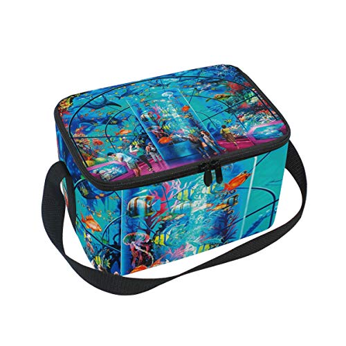Marine Museum Lunch Box Insulated Lunch Bag Large Cooler Tote Bag Picnic School Women Men Kids