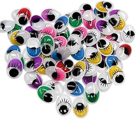 TOAOB 154 piezas 12 x 16 mm Oval plástico Multi ojos móviles ...