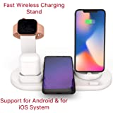 Wireless Charging Station, 3 In 1 Wireless Charging Dock Stand For Watch And Airpods, For IPhone/Micro/Type-C Fast Wireless Charging Stand Station Compatible For IPhone X/XS/XR/Xs Max/8 Plus