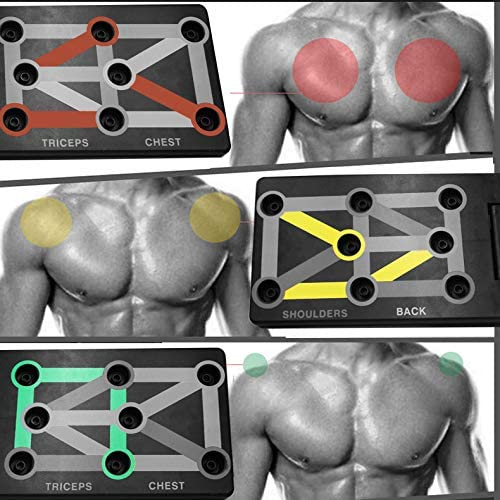 TOCO FREIDO Push Up Board System,Portable Workout Pushup Stands for Home Fitness Training Men//Women Resistance Bands for Free Gym
