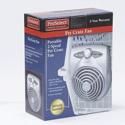Proselect Standard Pet Crate Fan, Silver