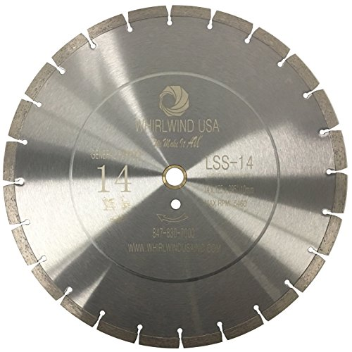 "Whirlwind USA LSS 14-Inch Dry or Wet Cutting General Purpose Power Saw Segmented Diamond Blades for Concrete Stone Brick Masonry (Factory Direct Sale) (14"")"
