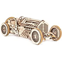 Mechanical UGEARS wooden 3D puzzle Model U-9 Grand Prix Car Construction Set