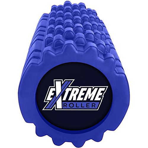 Extreme Muscle Foam Roller - High Density Grid Provides Deep Massage For Tight Muscles - For Pilates, Exercising, Yoga, Running, Physical Therapy & Sports - Blue