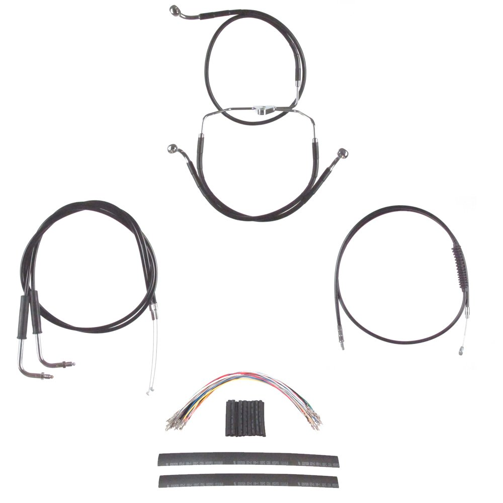 Amazon.com: Hill Country Customs Complete Black Cable ke ... on harley-davidson sportster parts diagram, harley-davidson shifter diagram, harley-davidson oem parts diagram, harley wiring,