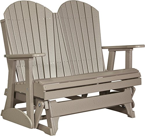 Poly Lumber Wood 4 Foot Porch Glider - Adirondack Design - WEATHERWOOD (4' Adirondack Glider)