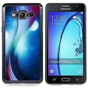 - Color Swirl - - Cubierta del caso de impacto con el patr??n Art Designs FOR Samsung Galaxy On5 SM-G550FY G550 Queen Pattern