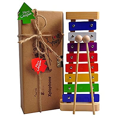 Xylophone for Kids: Best for your Mini Musicians, Musical Toy with Bright Multi-Colored Keys and Child-Safe Wooden Mallets, Perfectly Tuned Instrument for Toddlers, with Free Music Cards