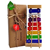 Kyпить HappyFishes Xylophone with Bright Multi-Colored Keys, Child-Safe Wooden Mallets and Music Cards for Kids на Amazon.com