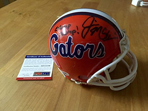 Jim McElwain Signed Florida Gators Mini Helmet Chomp Chomp Coa - PSA/DNA Certified - Autographed College Mini Helmets
