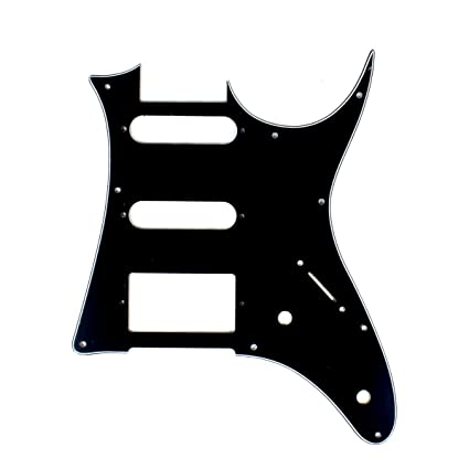 (E08) 3Ply Quality Guitar Pick Guard For Ibanez RG 40 ,HSS ,Black