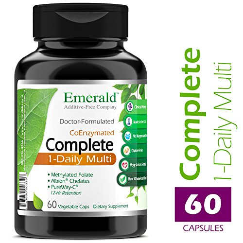 Complete 1-Daily Multi - Multivitamin Full of Coenzymes, Antioxidants, Folic Acid, & Vitamins - Supports Healthy Heart, Strong Bones, & Immune System - Emerald Laboratories - 60 Vegetable ()