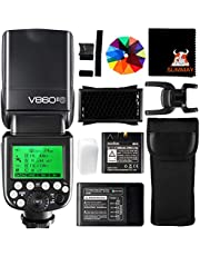 GODOX V860II-S TTL Camera Flash 2.4G 1/8000s HSS GN60 with Rechargeable Battery External Flash Speedlight for Sony Cameras (V860II-S)