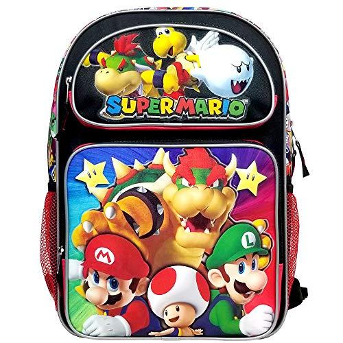 Super Mario Bros Super Bowser Large Backpack - Backpack Kids Angel Little