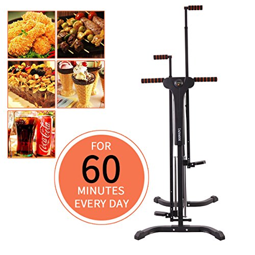 JAXPETY Vertical Climber Exercise Climbing Cardio Machine Home GYM Equipment Stepper Cardio Fitness Total Body Workout fitness climber