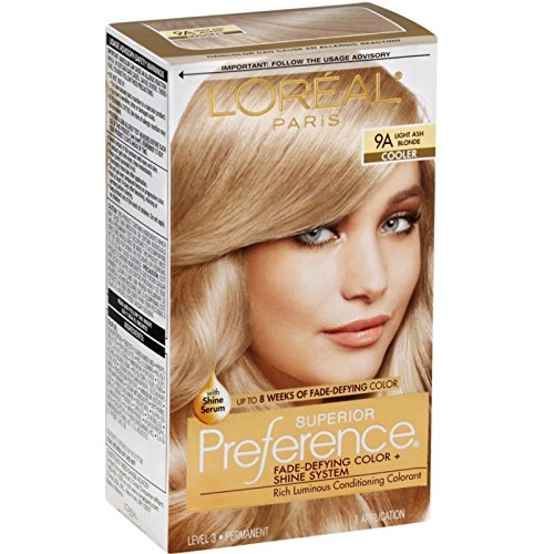 L'Oreal Superior Preference Light Ash Blonde 9A Cooler,1 Each (Pack of 3)