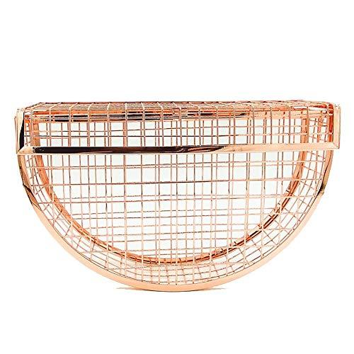 QZTG sac à main Sacs pour Femmes Sac De Soirée en Métal Boutons Or Noir Silvertote Sac À Main Classique De Grande Capacité Sac À Bandoulière Or