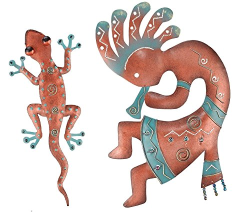 Regal Art & Gift Kokopelli and Gecko Decor 11