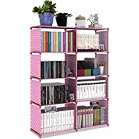Hometown Market Bookshelf For Girls, Kids or Women. Height: 125CM, Width: 85CM, Depth: 30CM. A Children Wall Bookcase Or Storage Cabinet Organizer