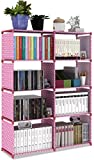 Hometown Market Bookshelf For Girls, Kids or Women. Height: 125CM, Width: 85CM, Depth: 30CM. A Children Wall Bookcase Or Storage Cabinet Organizer