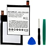 LG NEXUS 5X Cell Phone Battery (Li-Pol 3.8V 2700mAh) - Replacement For LG BL-T19 Cellular Battery - Embedded Battery with Tools