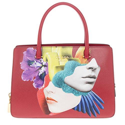 Prada-Womens-Multicolor-Graphic-Print-Saffiano-Tote-Red-Multicolor