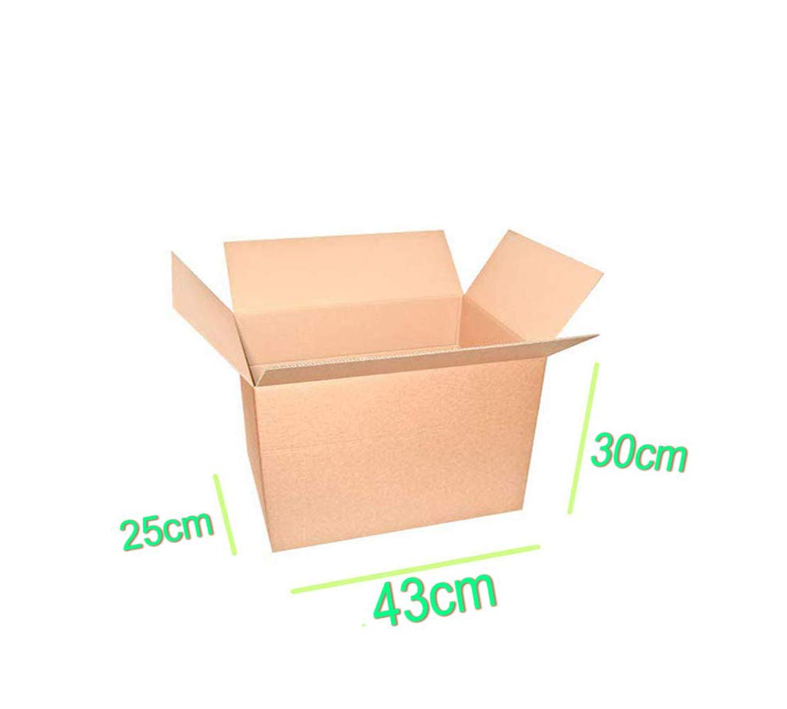 Palucart 10 cajas mudanza 430 x 300 x 250 mm cajas cartón cajas ...