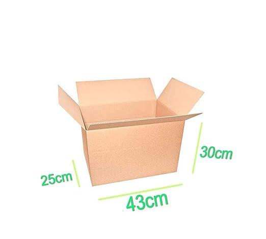 Palucart 10 cajas mudanza 430 x 300 x 250 mm cajas cartón cajas embalaje mudanza embalajes cajas cartón 43 x 30 x 25 cm: Amazon.es: Oficina y papelería