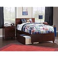 Atlantic Furniture AR8116111 Orlando Bed Solid Hardwood, Twin XL