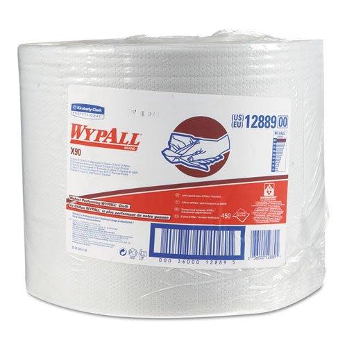 キンバリーProfessional * Wypall x90 Cloths、産業、11 1 / 10 x 13 2 / 5、ホワイト、450 /ロール – Includes 1つロール。 B00PM7OJFS