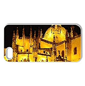 catedral de segovia spain - Case Cover for iPhone 5 and 5S (Religious Series, Watercolor style, White)