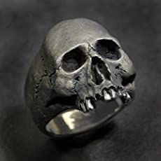 Amazoncom Silver Skull Wedding Ring Set Skull Wedding Ring
