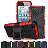 iphone 5 case red and black - Iphone 5 Case, Iphone 5s Case,[drop Resistance][scratch Proof][shockproof] soft Shock Absorption TPU Inner Sleeve & Impact-resistant Hard Plastic Case Back Cover Iphone 5,iphone 5s (Red/Black)