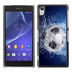 Graphic4You Soccer Football Sports Design Thin Slim Rigid Hard Case Cover for Sony Xperia Z2