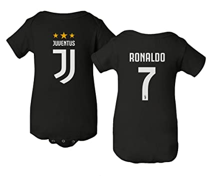 170b4c2fe11 Spark Apparel Soccer Shirt  7 Cristiano Ronaldo Juve CR7 Little Infant Baby  Short Sleeve Bodysuit