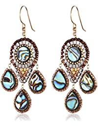 Abalone Small 3-Drop Chandelier Earrings