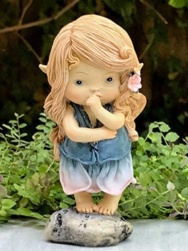 Miniature Figurine Fairy Garden Sweet Little Fairy Girl Sucking Thumb New