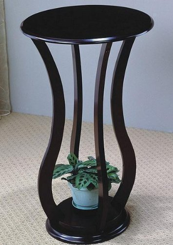 Coaster 900934 Round Plant Stand with Curved Legs, Cappuccino ()