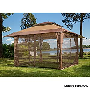 10 39 x 10 39 mosquito netting panels for gazebo - Insect netting for gazebo ...