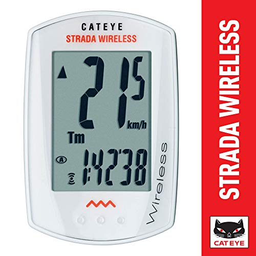 CAT EYE - Strada Wireless Bike Computer, White