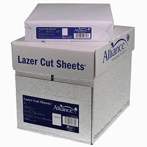 Laser Cut Sheet Paper 8-1/2'' x 11'', 2 Hole Punch Top 20 lb. 2500 Sheets per Carton, 80 Cartons per Pallet, Per Pallet Pricing by Alliance (Image #2)
