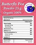 spoon river project - butterfly pea tea flowers Powder 0.88 oz. Organic 100% - Dried Pure Butterfly Pea Flowers