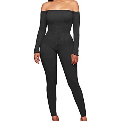 22f5b20bf78 Dreamyth-Jumpsuits Women Fashion Zippers V-Neck Long Sleeve Pants Sexy Casual  Jumpsuit (