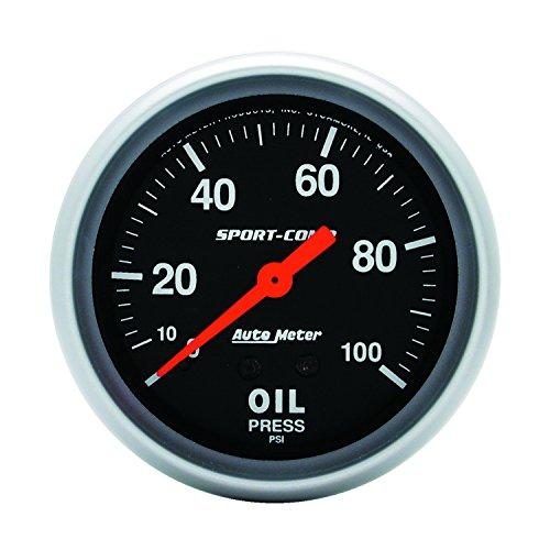 - Auto Meter 3421 Sport-Comp Mechanical Oil Pressure Gauge